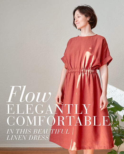 Donna — Terracotta Linen Dress Pattern
