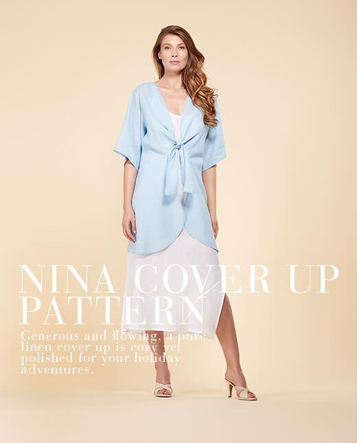Nina  — Linen Cardigan Pattern