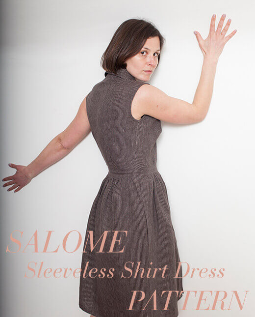 Salome — Salome Sleeveless Shirt Dress Pattern