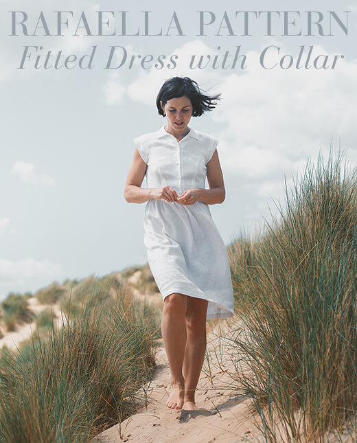 Rafaella  — Fitted Dress with Collar Pattern