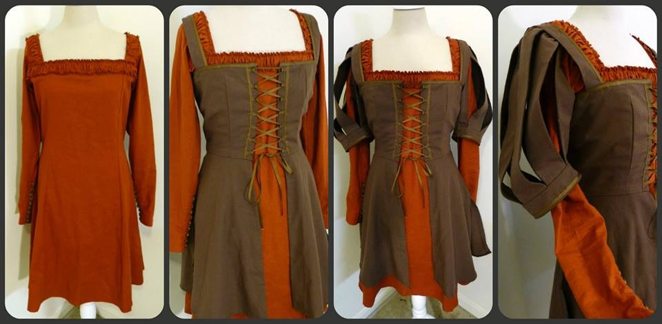 This is a Snow White and the Huntsman outfit, just different colors! The sleeves are detachable ...