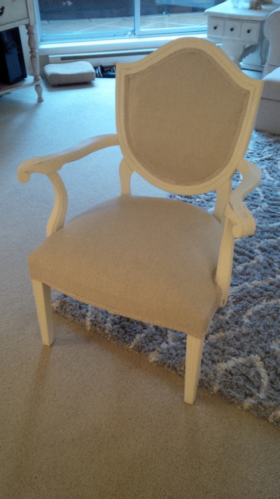 Anne Marie Cartier's Bella Chair- re-created with medium weight FS linen. ...