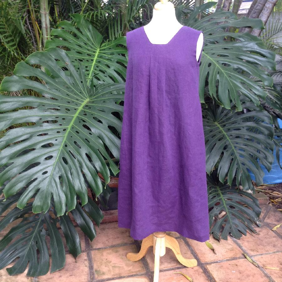 linen IL019 ROYAL PURPLE Softened - ...
