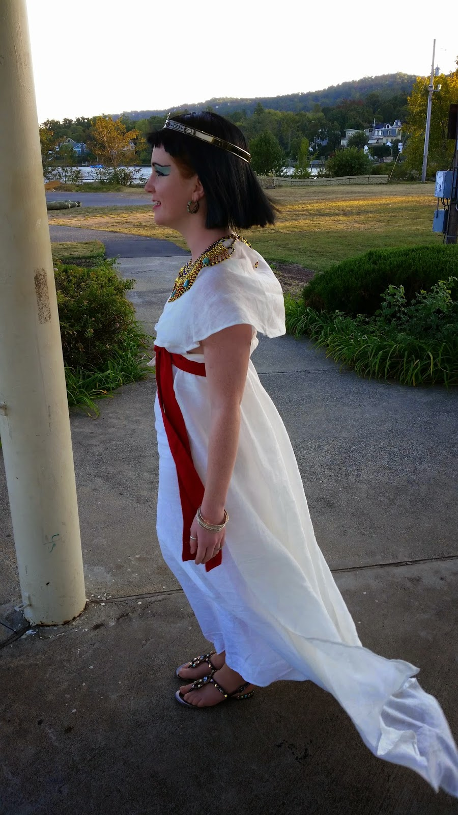 My Nefertari. Long standing fascination with Ancient Egypt led to this. The gown is light weight...