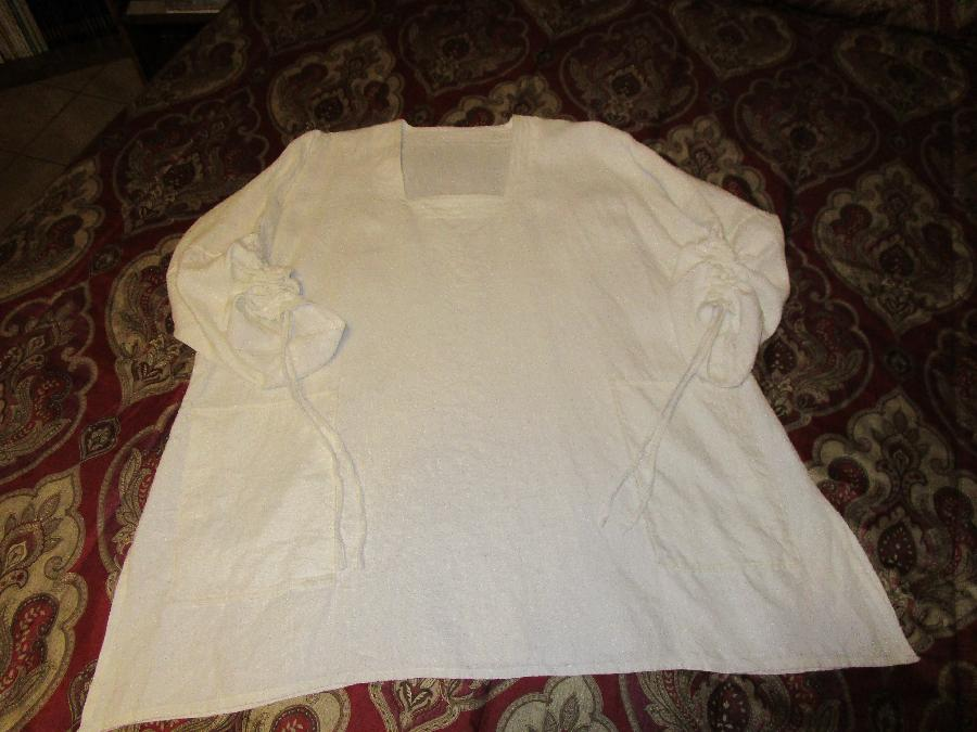 100% Bleached Linen IL019-Signature Finish Simplicity 1543A  Tunic...