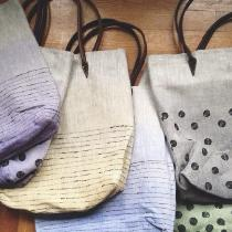 All my linen bags are hand painted with mineral pigments and hand Sewn. ...