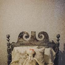 BEDDING FOR A PRINCESS Showcasing a variety of sheets, pillows and duvet on an antique rope bed ...