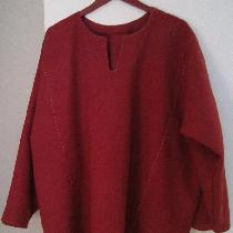 Based on Finnish Viking under tunic, uses 3 yards of heavy-weight linen in Tawny Port.  Layout: ...