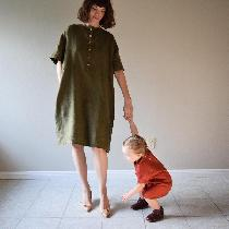 Dresses made w Olive + Sedona middle weight. www.etsy.com/shop/shieldsdesignhouse...