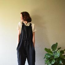 Overall w adjustable waist + straps made with blk medium weight. www.etsy.com/shop/shieldsdesign...