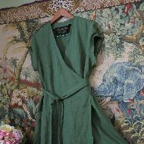 Wrap linen dress......comfortable an easy to wear.....ties in the back or the front...