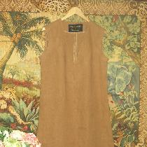 Simple summer linen dress.......Ginger color linen...