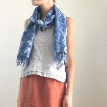 All Linen Outfit, Skirt: IL019 Rust, Top: IL019 Mix Natural, Scarf: IL020 Bleached hand dyed. ...