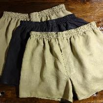 Boxer Shorts in 100% Lightweight Linen. Simple and functional. All seams turned inside out to re...