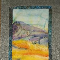Used L19 for the background of the painting/dyeing image then cotton for the surround due to tex...