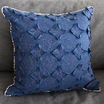 Pillow cover made with IL019 dark denim....