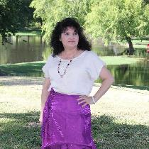 "I sewed up the Designer Stitch ""Kat"" Blouse out of a linen blend fabric and sewed a lace appliqu..."
