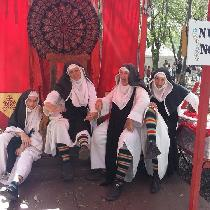 Black and white linen and black wool...15th century nuns. ...