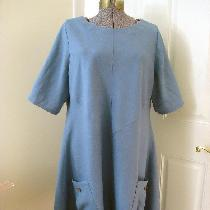 Slow sewn dress. All seams are serged. It is neatly top stitched. And this it wonderfully comfor...