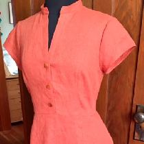 Summer dress in Mecca Orange middle weight.  Love this color!...