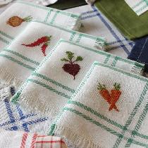 fresh from farmer's market on perfect to cross stitch linen .......