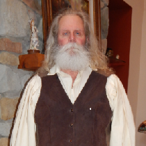 Heidi's Grandfather.  Made shirt, pants. vest and leggings....