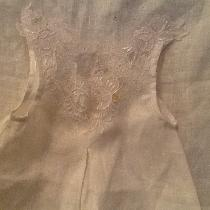 This was a christening gown that was made for a co worker. I also completed a coat lace bonnet a...