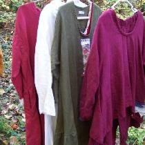 Multicolor linen garments, all handmade by me...