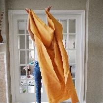 Heavy weigh bleached hand-dyed w 1 C coffee + 1/2 C turmeric for 3 nights. ...