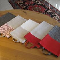 Guest/Kitchen towels made with two color 100% linen. ...