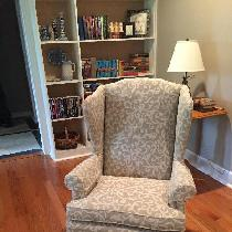Wingback chairs... Turned out great!...