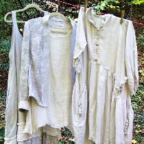 I've fell in love with linen!  This is a collection of a slip dress, tunic top, dress and jacket...