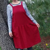 A jumper from my own pattern, made with cranberry coloured linen. Perfect for any season!...