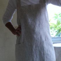 X back apron made from  heavy weight /mixed natural linen..its a work horse!...