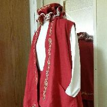 Mrs Claus in IL019 Color Crimson  I Love Linen Easy Care Wash and Wear Mrs  Claus Outfit.    Dre...