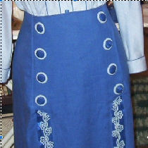 This skirt using IL019 linen is a 1912 pattern from La Mode Illustre magazine through the Vintag...