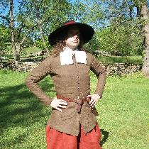 This outfit was designed to portray a 17th Century English colonist living in Maryland.  The dou...