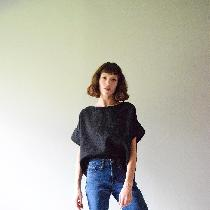 Heavy weight pocket tee w drop sleeves and a front-cropped hem. Available soon at www.etsy.com/s...