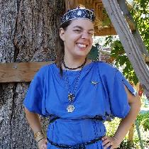 IS003 Ultramarine - Woman's Roman Tunica (for SCA use), hand-sewn. I live in Missouri and events...