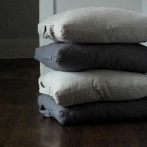 Linen floor cushions using 4C22 Graphite-softened and 4C22 Natural....