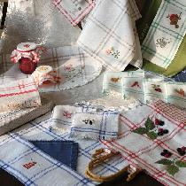 love to use picnic linen for cross-stitch embroidery and more - very summery linen... book cover...
