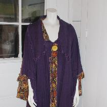 Tina Givens coat in middle weight linen...