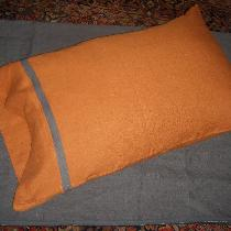 This is just a pillow case out of adobe an Graphite softened linen.  My son picked the  colors f...
