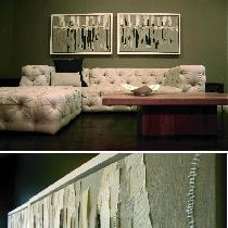 LINEN LIVING Handcrafted pillows and layered artwork in varying weights of neutral fabrics-store...