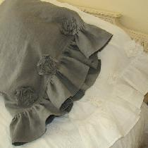 Tattered Flower Pillow Cases using Bleached and Asphalt in IL019....