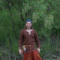 This is a complete set of Birka-style Viking Clothing I made for my husband.  His undertunic is ...