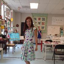 the I can sew pleated dress for teaching...