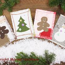 you probably never thought that you can make cute Christmas cards out of linen, ha? I did it! :-...