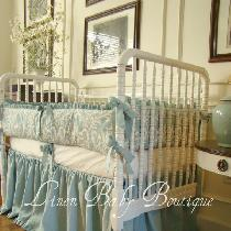 "This set was made with IL019 Medium Weight linen in the color ""Meadow""...."