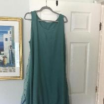 Boho Chic dress out of mid weight linen...